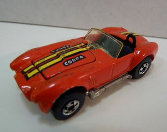 """c1982, believed '83-89 product Hot Wheels Classic Red Cobra, Beautiful!  VG to Exc. Condition, Hood Opens, Bonus """"Mystery"""" Diecast Included!"""