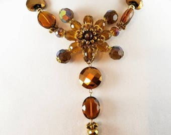 Golden Sunset Necklace ~ Beautiful ~ Unique ~ Elegant