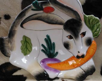 Fitz and Floyd Essentials Spotted Rabbit Easter Bowl (2)