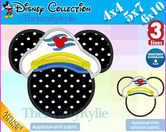 Cruise MICKEY APPLIQUE DESIGNS - 3 Sizes 4x4, 5x7, 6x10
