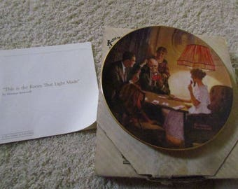 """Norman Rockwell Plate 8 1/2"""""""