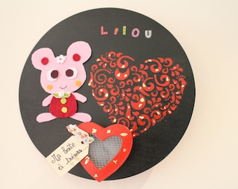 "Tooth ""Little mouse"" wall Creation with treasure box keepsake box"