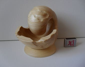 Wooden handmade sculpture Nautilus  - 3MS