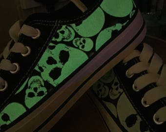Glow in the dark skull shoes 4