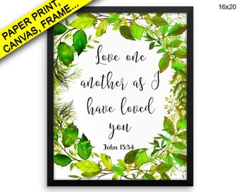 Love One Another Wall Art Framed Love One Another Canvas Print Love One Another Framed Wall Art Love One Another Poster Love One Decor