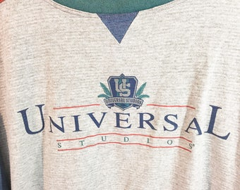 Universal Studios Vintage 90s Color Block Shirt USA Florida Disney