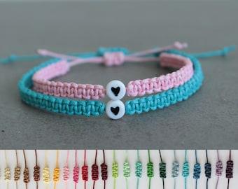 SALE Couples Bracelet, His and Her Bracelet, Couples Bracelet Set, Matching Couple Bracelets,Love,Long Distance Relationship, Heart Bracelet