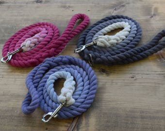 Ombre Rope Dog Leash- Custom