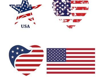 Distressed flag svg files for cricut svg files for silhouette vector cut file png dxf eps