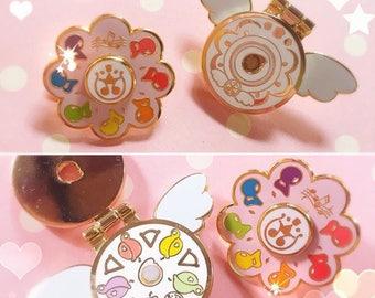 Magical doremi enamel pin, ojamajo doremi pin, magical girl pin, cute pin, kawaii pin, spinner pin, anime gifts, girl gifts, lapel pin