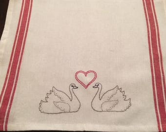 Valentine's Day kitchen hand towel