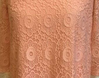 Dress sleeves three quarter lace pink
