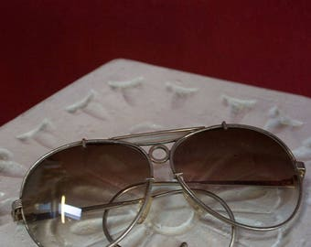 Original vintage 70's teardrop glasses