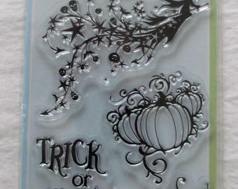 Party cracker snaps bangers for party popper bonbons clear stamps halloween inkadinkado set of 6 stamps happy halloween witch on broomstick solutioingenieria Gallery