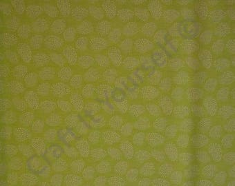 lime leaf  100% cotton fabric 44 inch / 110cm floral sketch range lime text