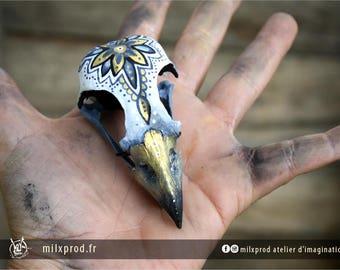 painted Raptor skull