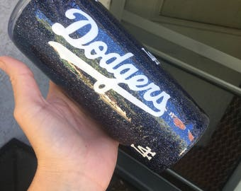 Dodgers glitter tumbler