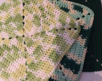 Crocheted Dishcloth/Washcloth Set