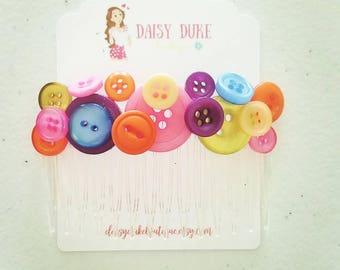 Rainbow Button Comb