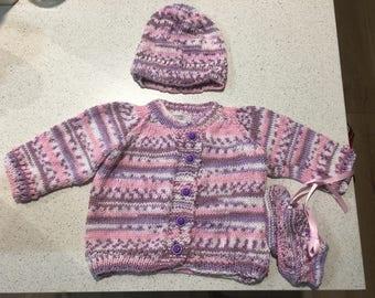 Winter cardigan set