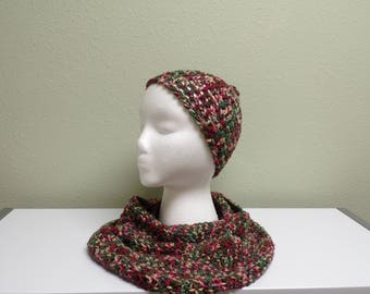 Ladies Hat & Scarf Set, Hand crocheted
