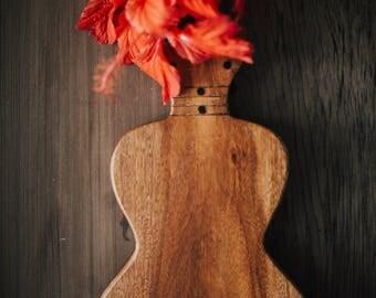 Vintage Ukulele Wood Cutting Board