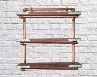 Copper Piping Shelf