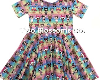 LOL Surprise Dolls Birthday LOL Surprise dress L.O.L. Surprise dolls girl's dress LOL surprise doll clothing lol dress