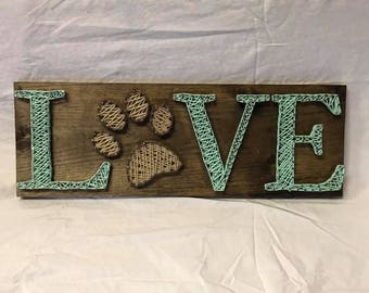 Ohio string art etsy paw love dog love string art paw print nail art prinsesfo Images