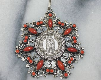 Our Lady of the Guadalupe Coin Pendant