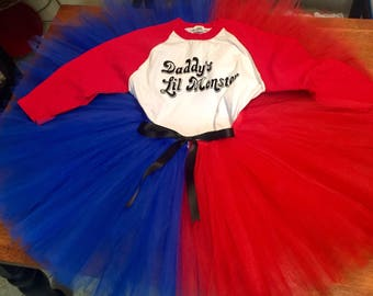 ADULT SIZE! Be a supervillain this Halloween! This costume includes both the jersey and tutu skirt as pictured! This listing is for the adul