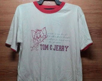 FREE SHPPING... 90's Vintage Tom & Jerry Tshirt Large size