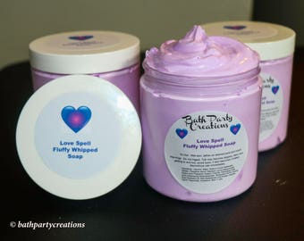 Love Spell and Assorted Fluffy Whipped Soaps