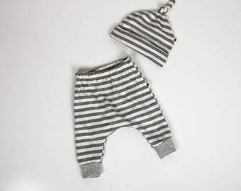 Baby gift set, stripes, baby clothes, gift for baby
