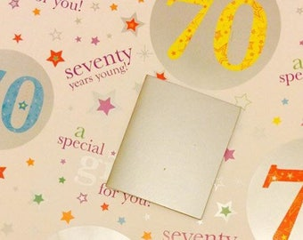 70th Gift Wrapping Paper Seventy 70