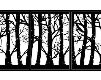 Artistic Steel Driveway Gate - Woodland - Metal Wall Art - Handmade