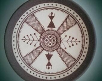 Ceramic, decorative panel, Ceramic, Wall decor, Folk Art, Clay panel, Art ceramics, hand-painted, exclusive pottery, original ceramic, decor