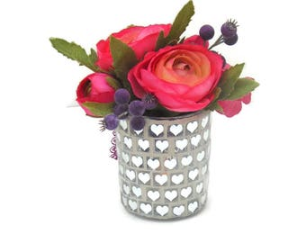 Ranunculus & Orchid, Silk Table Arrangement Free Delivery