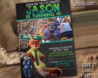 Zootopia Invitation / Zootopia Birthday / Zootopia Party / Zootopia Card / Zootopia Printable / Zootopia Invitations / Zootopia / Zoo_BS089