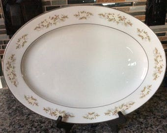 "Springtime Pattern 14"" Platter number 326 by International Silver Company 60's"
