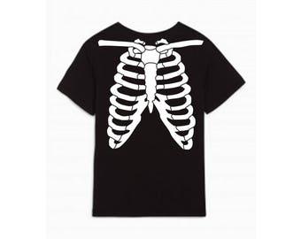 Shirt - Halloween skeleton