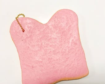 Jumbo Pink Bread Slice Squishy // Bread Squishy, Slow Rising Squishy, Pink Squishy, Jumbo Squishy, Cute Squishy, Squishy Set, Slime Set