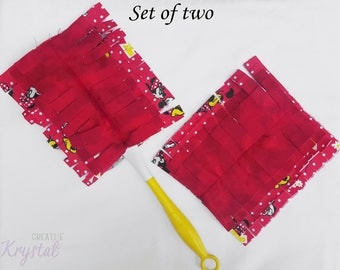 Red Mouse Cleaning ~ Swiffer Duster 360 ~ Washable Duster ~ Reusable Duster ~ Polka Dots ~ Eco Cleaning ~  Green Cleaning ~ Handmade