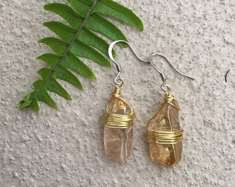 Aura quartz earrings