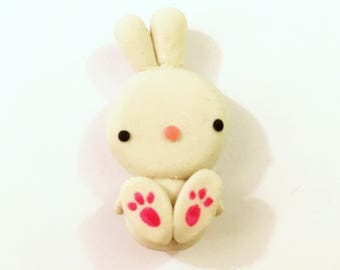 Adorable Baby Bunny Polymer Clay Charm