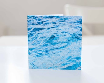 Ocean greeting card, Birthday card with ocean print.