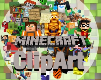 MineCraft ClipArt 60 - Digital , PNG, image, picture,  oil painting, drawing,llustration, art , birthday,handicraft 300 DPI, 300 PPI
