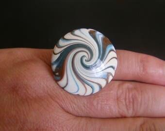 ring adjustable spiral bead