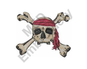 Skull And Crossbones - Machine Embroidery Design