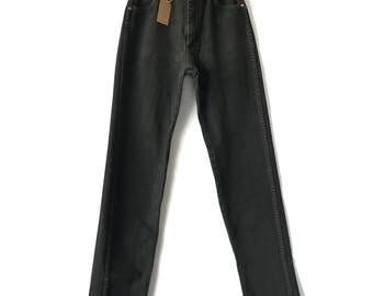 Vintage Wrangler Jeans, Black Wrangler High Waist Jeans, 24 25 inch waist, Size 0 Size 2